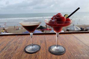 Espresso Martini and Frozen Berry Margarita - Finns beach Club Bali