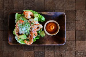 Spicy Prawn Salad - Finns Beach Club Bali