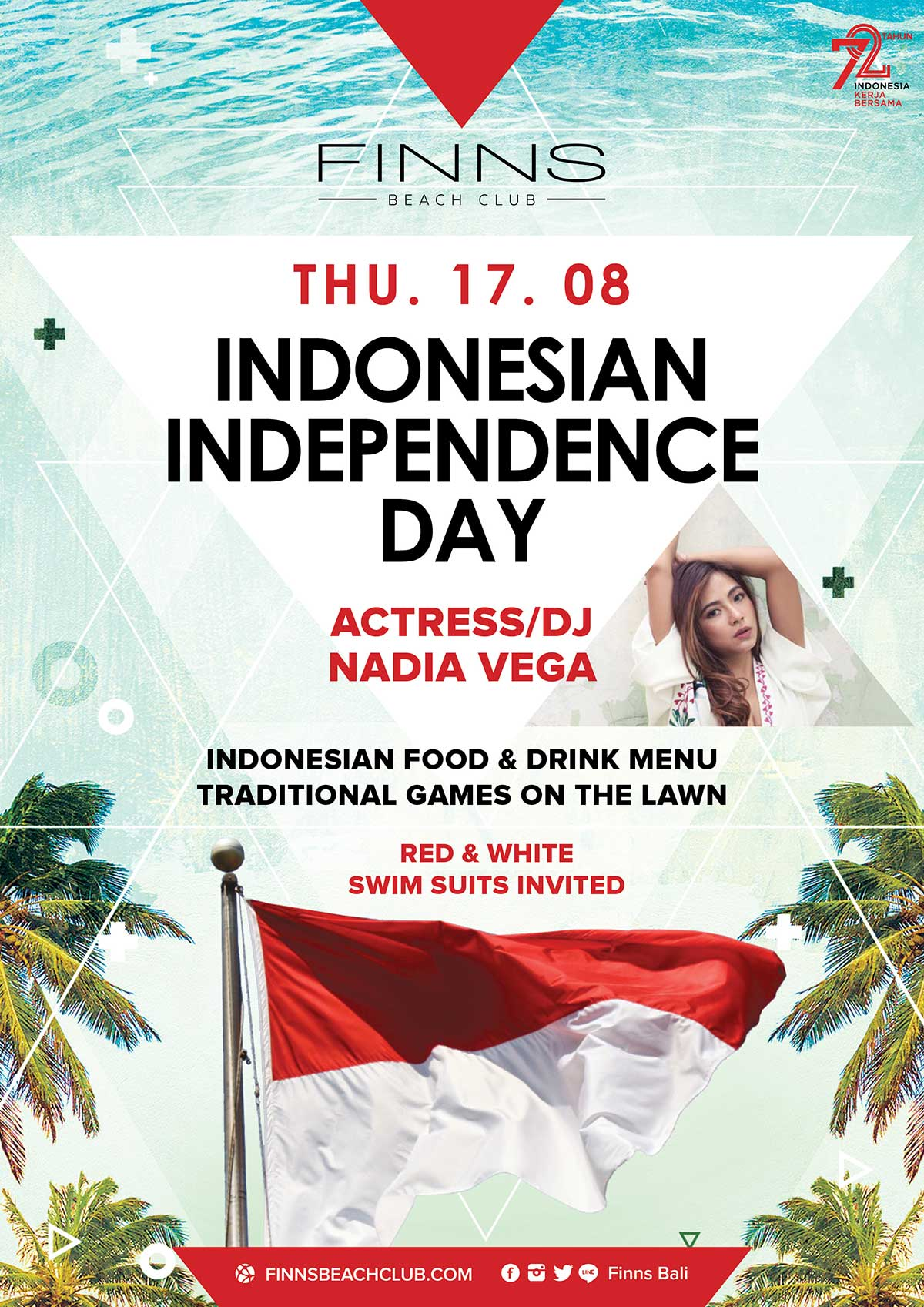 Independence Day at Finns Beach Club - Bali