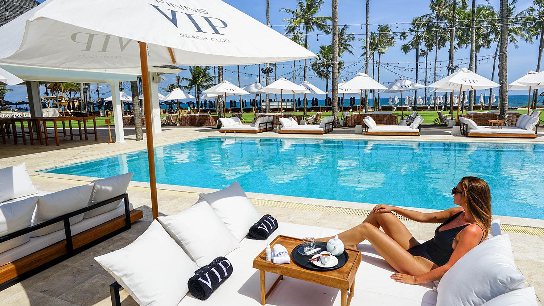 DOUBLE VIP DAY BED POOLSIDE & Pre-book VIP Beds - Finns VIP Beach Club