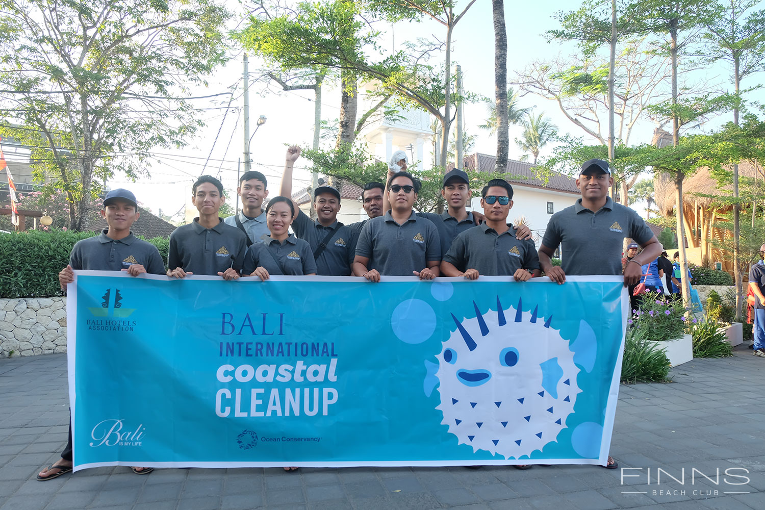 Bali International Coastal Cleanup Finns Beach Club Bali